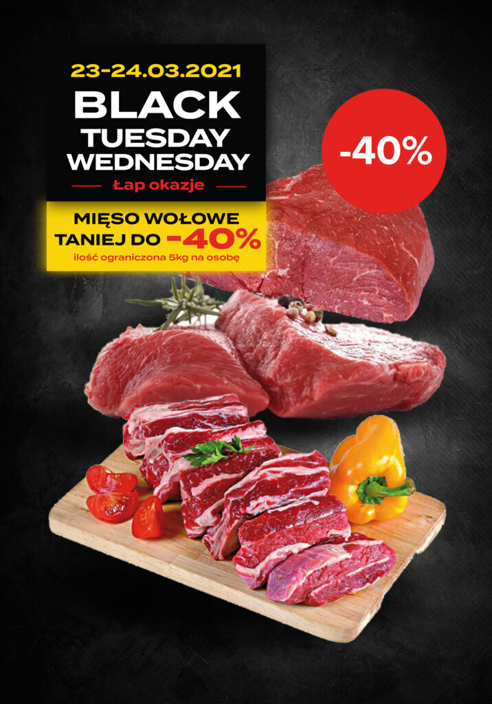 Mięso wołowe -Taniej do 40%